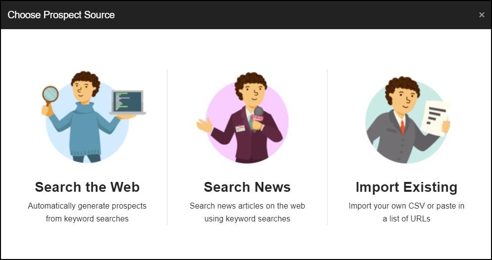 Finding new websites