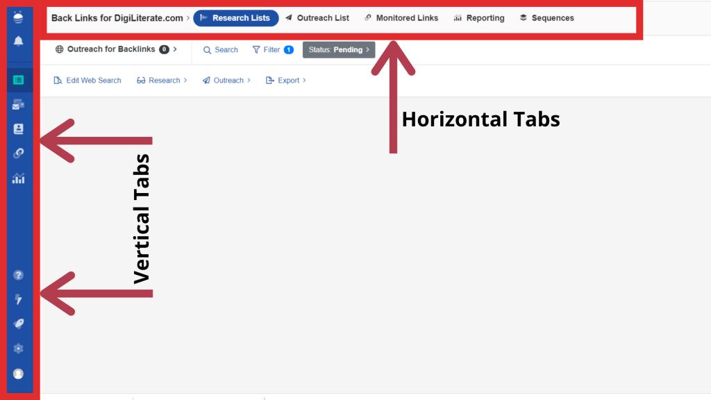 BuzzStream Interface